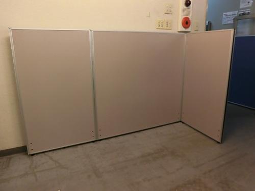 3連L型パーテーション 中古|オフィス家具|パーテーション