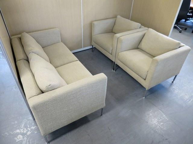 Cassina ixc(カッシーナ イクスシー) 応接ソファ3点セット 中古|オフィス家具|応接セット|デザイナーズ