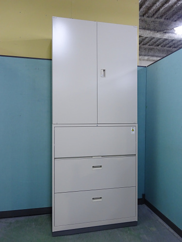 コクヨ 両開きラテラル上下書庫 中古|オフィス家具|書庫