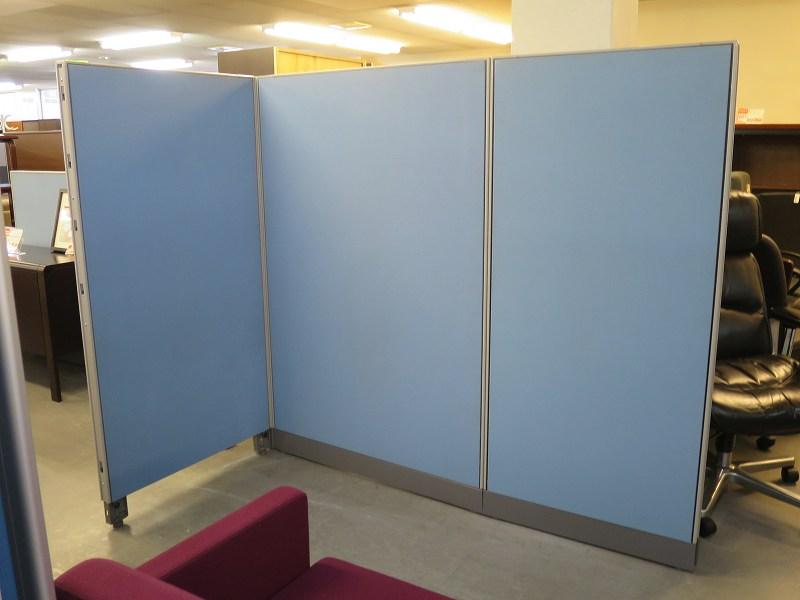 ウチダ 3連L型パーテーション 中古|オフィス家具|パーテーション|連結式