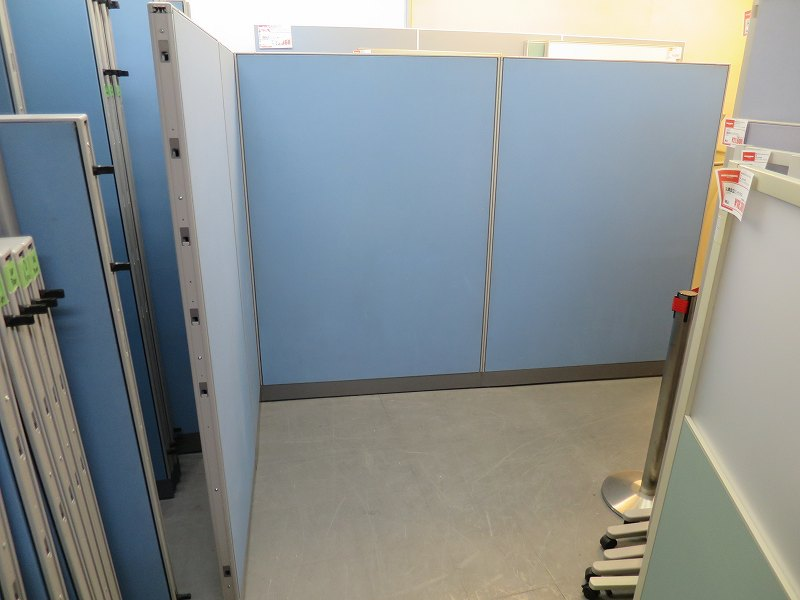 ウチダ 4連L型パーテーション 中古|オフィス家具|パーテーション|連結式