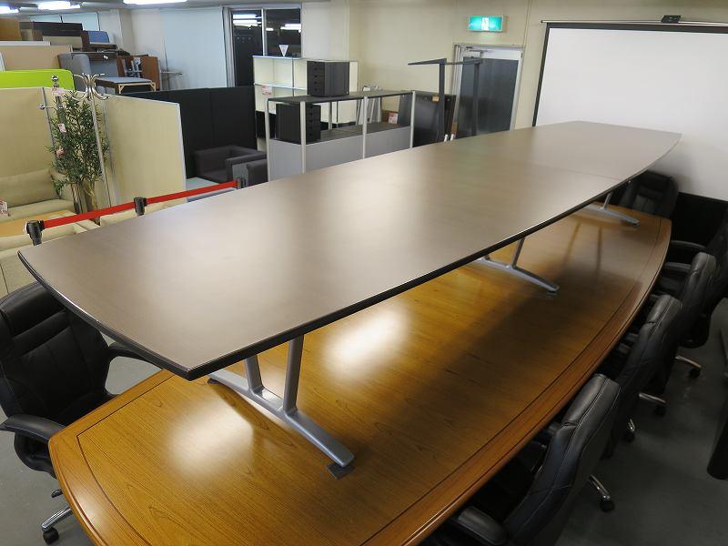 コクヨ 役員舟形ミーティングテーブル 中古|オフィス家具|ミーティングテーブル|役員