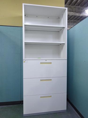 イナバ オープンラテラル上下書庫 中古|オフィス家具|書庫