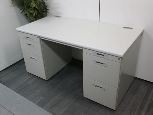 ライオン 1400両袖デスク 中古 オフィス家具 事務机