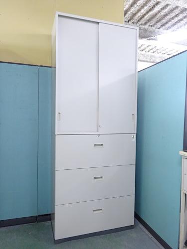 コクヨ スライドラテラル上下書庫 中古|オフィス家具|書庫
