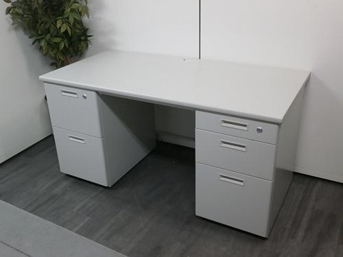 ライオン 1400両袖デスク 中古|オフィス家具|事務机