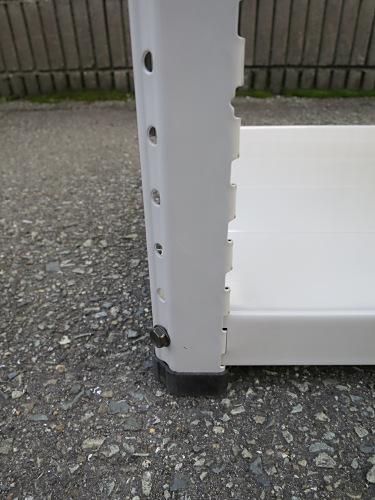 軽量棚P0102N天地5段 キズ有 ホワイト バラし不可詳細画像4