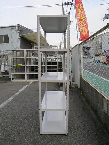 軽量棚P0102N天地5段 キズ有 ホワイト バラし不可詳細画像2