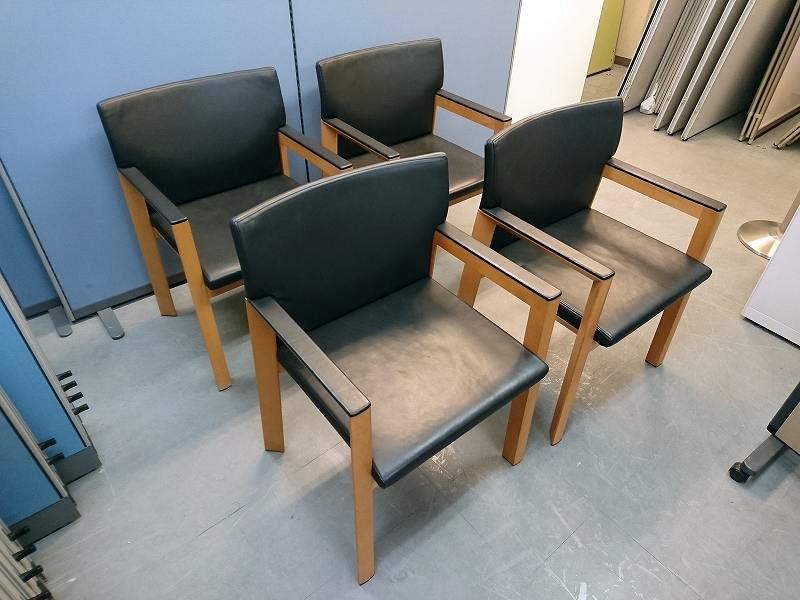 ウィルクハーン リナスアームチェア4脚セット 中古|オフィス家具|役員|デザイナーズ|ミーティングチェア