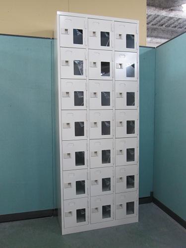 21人用シューズロッカー 中古 オフィス家具 ロッカー