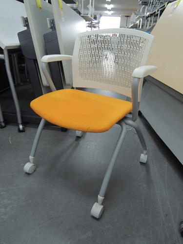 アイコ スタッキングチェア6脚セット 中古 オフィス家具 ミーティングチェア