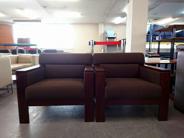 ライオン アームソファ2脚セット 中古|オフィス家具|応接セット|ロビーチェア|その他