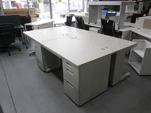 コクヨ 1200片袖デスク4台セット 中古|オフィス家具|事務机