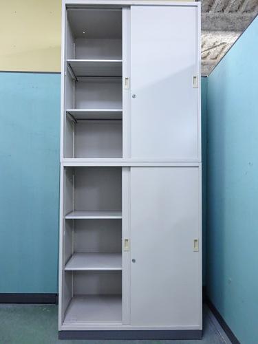 コクヨスライド上下書庫Q1303Mカギ付 棚板4枚詳細画像2