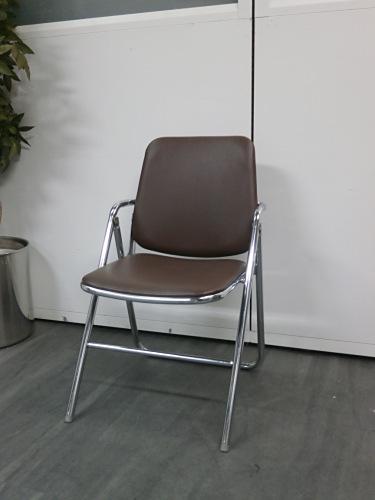 コクヨ 折畳パイプイス 中古|オフィス家具|ミーティングチェア