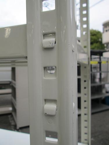 オカムラ軽量棚R1504R天地6段 ホワイト 現状バラ渡し ボルトレス詳細画像2