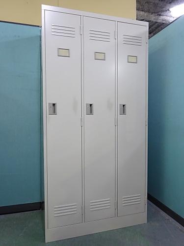 豊国工業 3人用ロッカー 中古 オフィス家具 ロッカー