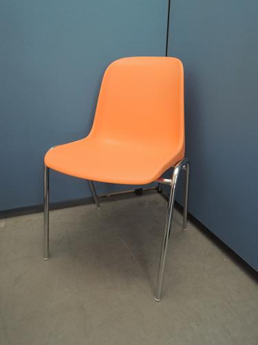 スマイル スタッキングチェア4脚セット 中古|オフィス家具|ミーティングチェア