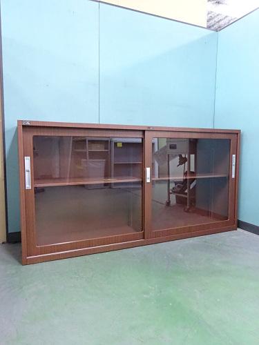 ライオン ガラススライド書庫 中古|オフィス家具|書庫