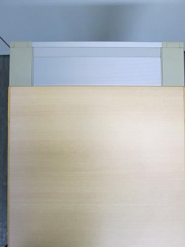ナイキサイドデスク2000000010510カギ付 2段 キズ・ヤケ有 天板ナチュラル詳細画像3