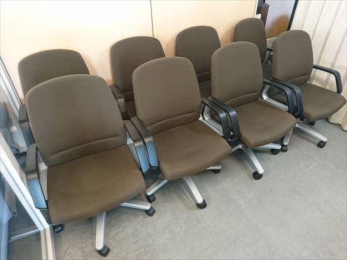 コクヨ 役員チェア8脚セット 中古|オフィス家具|役員家具|役員チェア