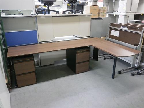 オカムラ 2400L型デスク 中古|オフィス家具|事務机