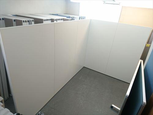 イトーキ 5連L型パーテーション 中古品|オフィス家具|パーテーション|連結式
