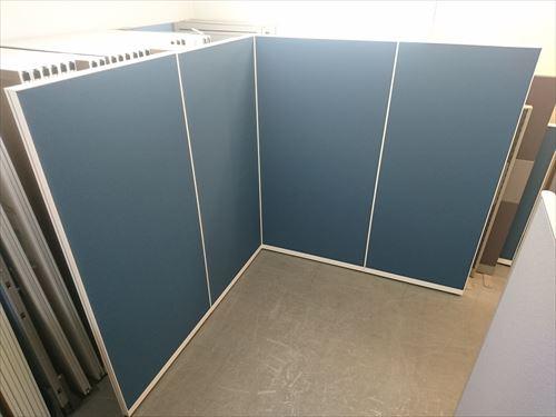 イトーキ 4連L型パーテーション 中古品|オフィス家具|パーテーション|連結式