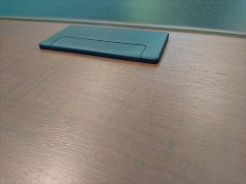 記載台T1225Yブラウン・木製・上部プラスチック板・配線ダクト付詳細画像3