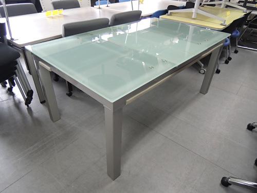 ガラス伸縮テーブル 中古|オフィス家具|ミーティングテーブル