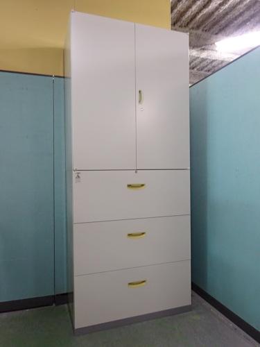 ナイキ 両開きラテラル上下書庫 中古|オフィス家具|書庫