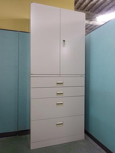 オカムラ 両開きラテラル上下書庫 中古|オフィス家具|書庫