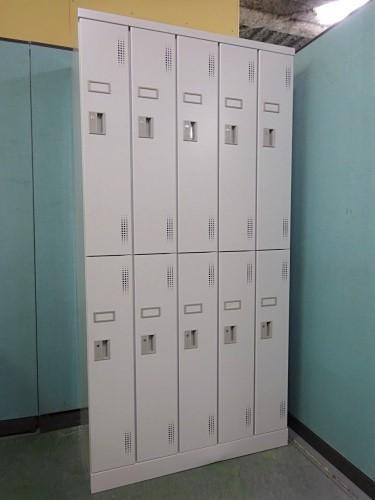 豊国工業 10人用ロッカー 中古 オフィス家具 ロッカー