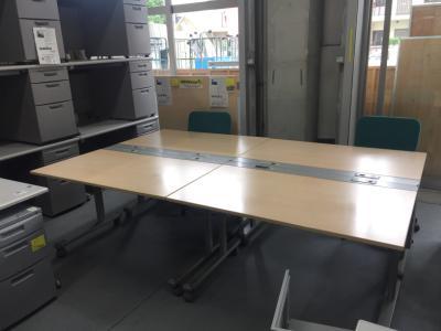 ウチダ 1200サイドスタックデスク4台セット 中古|オフィス家具|OAデスク