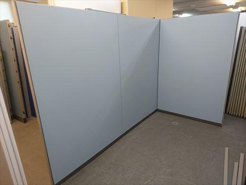 コクヨ 3連L型パーテーション 中古品 オフィス家具 パーテーション 連結式