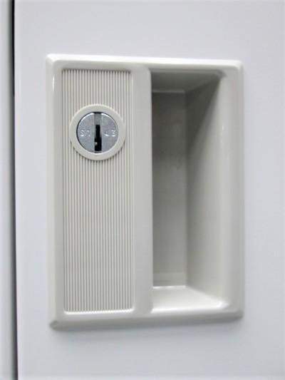 豊国工業4人用ロッカー2000000019116カギ各1本付/ホワイトグレー詳細画像2