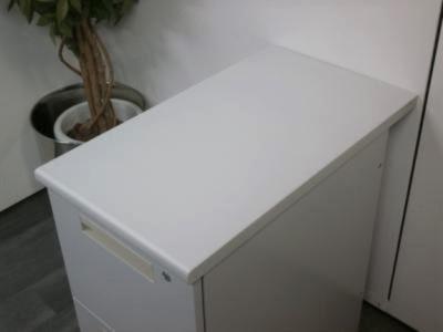 ライオンサイドデスク2000000003576カギ付/2段/箱渡し商品/ライトグレー詳細画像4
