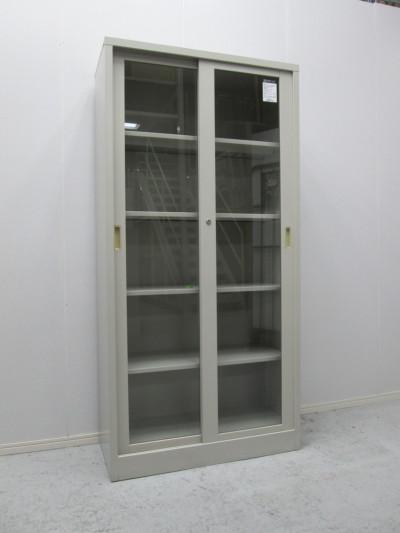コクヨ ガラススライド書庫 中古 オフィス家具 書庫