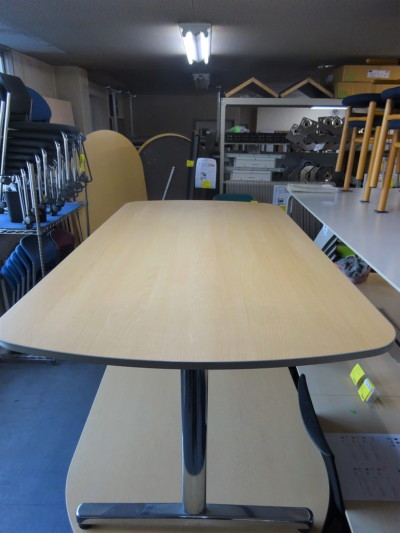 ウチダ(内田洋行)ミーティングテーブル2000000019110天板キズ有詳細画像2