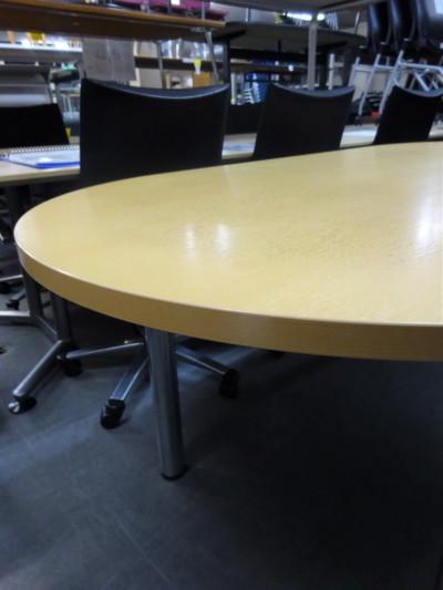 ライオンミーティングテーブル2000000019111天板ナチュラル/脚シルバー/4本脚詳細画像3