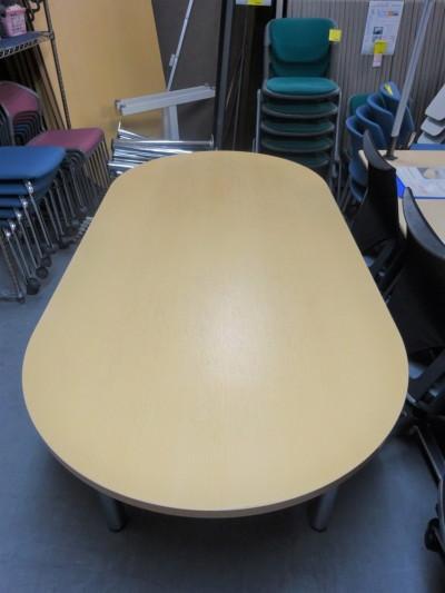 ライオンミーティングテーブル2000000019111天板ナチュラル/脚シルバー/4本脚詳細画像2