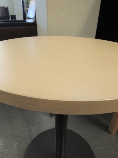 コクヨ丸テーブル2000000016995ライトナチュラル/1本脚詳細画像2