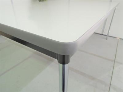 ニシキ工業 ミーティングテーブル 2000000019891ホワイト/4本脚詳細画像3