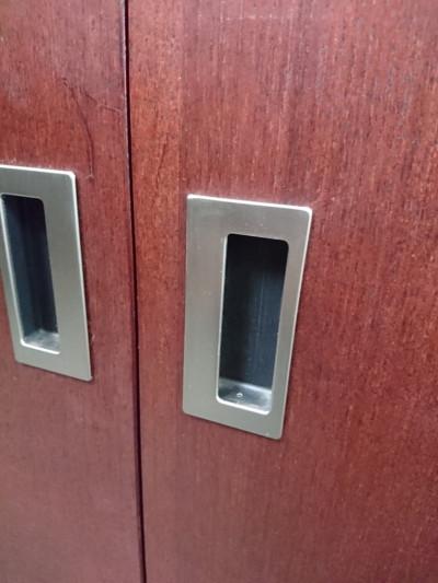 役員家具2点セット2000000020407キズ有/庫内汚れ・取っ手塗装剥がれ有詳細画像4