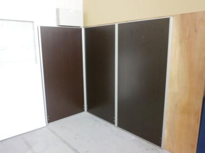 3連L型パーテーション  中古|オフィス家具|パーテーション|連結式