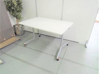 ウチダ(内田洋行) 天板フラップ型ミーティングテーブル 中古|オフィス家具|ミーティングテーブル|サイドスタックテーブル