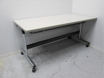 オカムラサイドスタックテーブル 2000000021263ニューアイボリー/ソフトエッジ/幕板なし詳細画像3