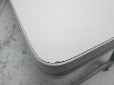 イトーキサイドスタックテーブル2000000021322ホワイトグレー/ソフトエッジ/幕板付詳細画像4