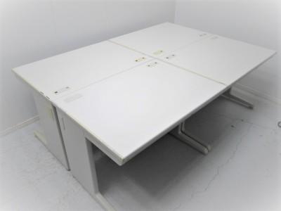 オカムラ 1000平デスク4台セット  中古|オフィス家具|事務机|デスクセット