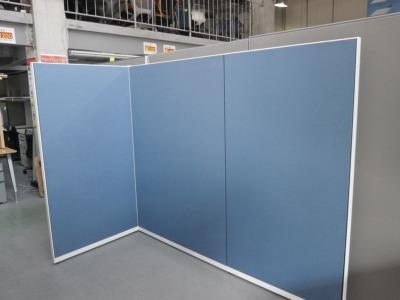 オカムラ 3連L型パーテーション  中古|オフィス家具|パーテーション|連結式